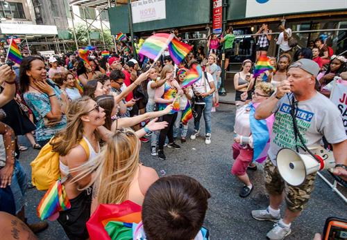 Editorial shot of New York City Pride