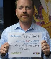 From Waller's participation in GLSEN's Ally Week campaign, 2013
