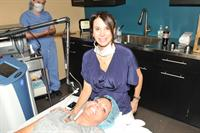 Dr. Melissa with a happy Mixto patient