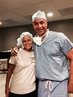 Dr. Ro with a happy Custom Wavelight Lasik patient