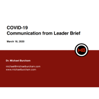 Member News Release: COVID-19 Communication from Leader Brief