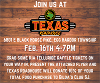 Gilda's Club South Jersey Fundraiser at Texas Roadhouse