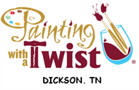 """Painting with a Twist DIY Workshop Jewelry Holder """"Chandelier"""" Painting Class"""