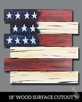 Painting with a Purpose Fundraiser for Dickson County COPS at Painting with a Twist - Rustic America Wooden Pallet