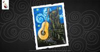 Guitarry Starry Night Over Nashville at Painting with a Twist in Dickson