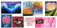 Valentine Weekend Events at Painting with a Twist in Dickson