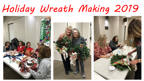 Holiday wreath making.