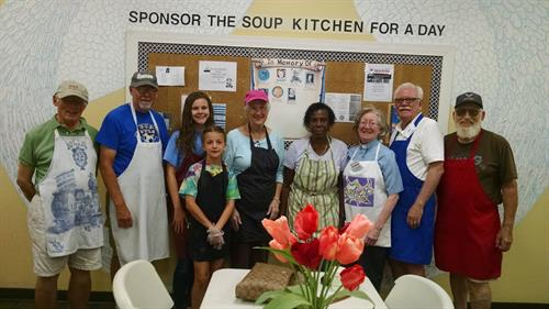 St. Francis volunteers @ Community Soup Kitchen of Goldsboro 2017