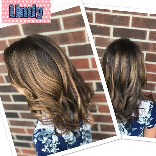 Hand painted Highlights by Lindy
