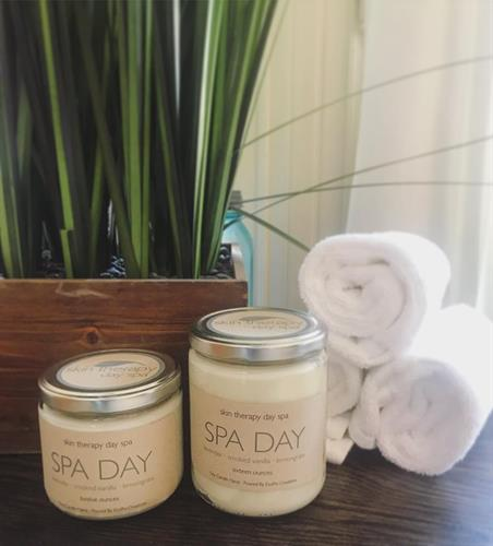Customized Candles for Skin Therapy Day Spa