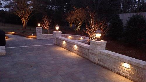 Night Lights can enhance the beauty of your home and landscape and increase security.  Never have to change bulbs again with our long lasting, top of the line LED systems and maintenance programs. Cost efficient and curb appeal day and night.