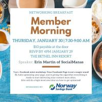 Member Morning: Breakfast and mini-workshop on optimizing your business Facebook page