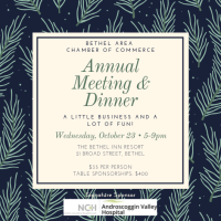 2020 Annual Meeting & Dinner of the Bethel Area Chamber of Commerce