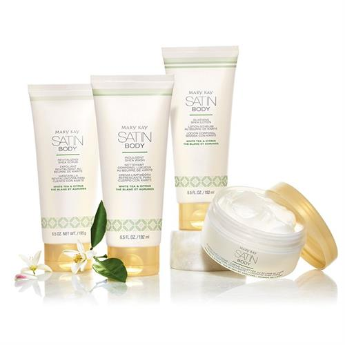 NEW Satin Body Collection. Envelop your skin in a velvety kiss of rich shea butter.
