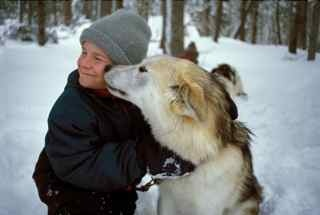 Michael & sled dog Nelly