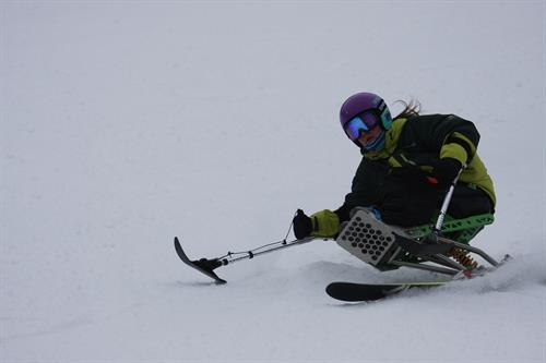 Skiing at Sunday River in Newry, ME.