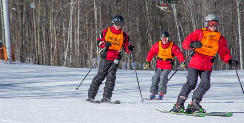 Skiing at Sugarloaf in Carrabassett Valley, ME.