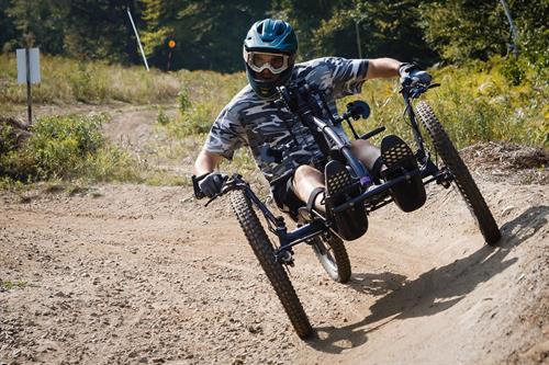 Mountain biking at Mt. Abram in Greenwood, ME.