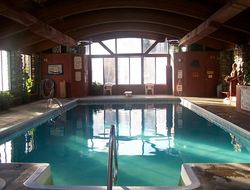 We have a nice indoor heated pool and hot tub for you to enjoy