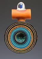 Noah Rockland glass geode pendant