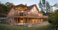 Real log home completed 12-23-14 featured in trade shows and literature