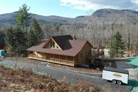 Real log home completed 12-23-14