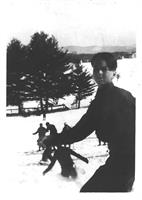 Skiing at ANderson SKi Area on Vernon St.  1950's