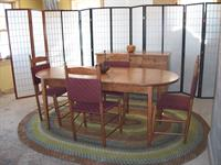 Padded back dining chairs with cherry oval extension and buffet that shipped to Georgia