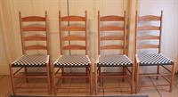 4 slat dining chair that has a higher back than our standard 3 slat chair.