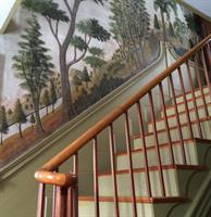 Murals in the front hall of the Mason House, attributed to Jonathan Poor.