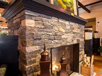 Stonecutter Blend Fireplace and Hearth