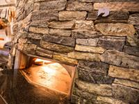 Stonecutter Blend Ledgestone and Ashlar Pizza Oven