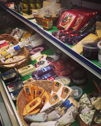 Large cheese selection