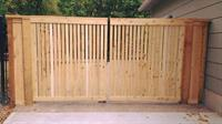 Custom Double Wood Gate