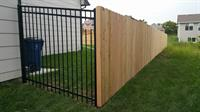 Wood Privacy and Ornamental Iron Mix