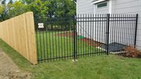 6ft Wood Privacy/ Ornamental Iron