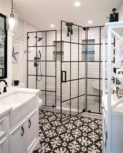 Black Framed Shower Enclosure