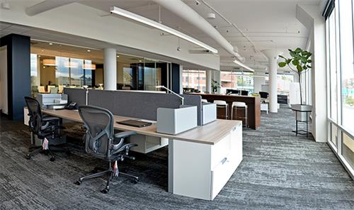 Herman Miller Layout Studio workstations make it easy for our drop-in workers to find a heads-down space.