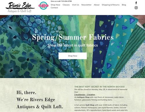 Quilt shop website