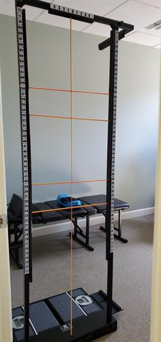 S.A.M. Unit, utilized for accurate measurement of postural abnormalities.