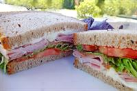 cherry honey ham sandwich