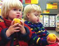 Kids can enjoy a piece of FREE fruit while parents shop