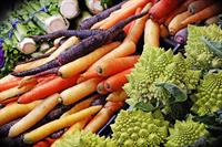 large selection of fresh, local, organic produce