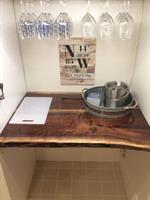New custom bar in kitchen
