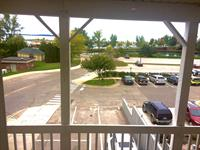 View from the second floor balcony