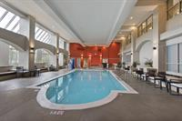 The Hotel features an indoor heated pool and whirlpool
