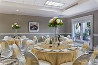 Our Regency Ballroom features a private pario