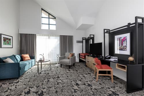 One Bedroom Loft - Living Room