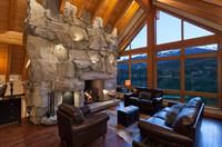 New Home Construction - Stone Fireplace