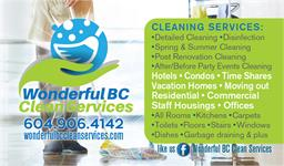 Wonderful BC Clean Services
